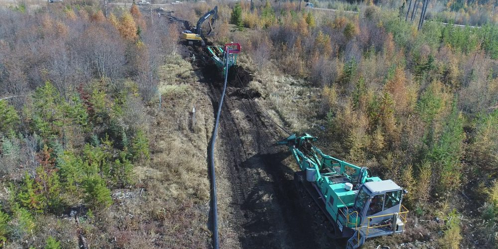 """8"""" Composite Pipeline being laid"""
